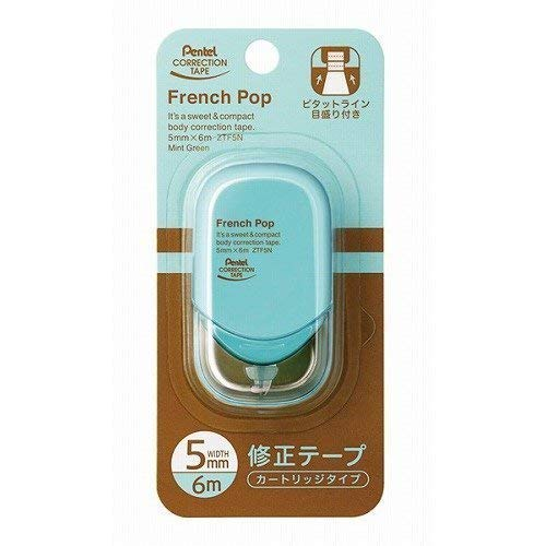 (Pentel Correction Tape French pop My color 5mm mint green XZTF5NDW)