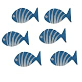 Contact Ocean Fish Tub and Shower Treads With Safe Non-Slip Suction Cups Pack of 6 (Blue)