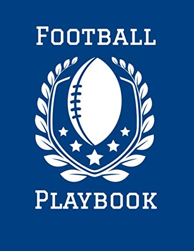 Football Playbook: 2019-2020 Football Coaching Notebook in Blue