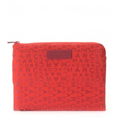 Cabernet Case - Marc by Marc Jacobs MBMJ New Jumble Logo Neoprene Tablet Zip Case, Cabernet Red Multi, One Size