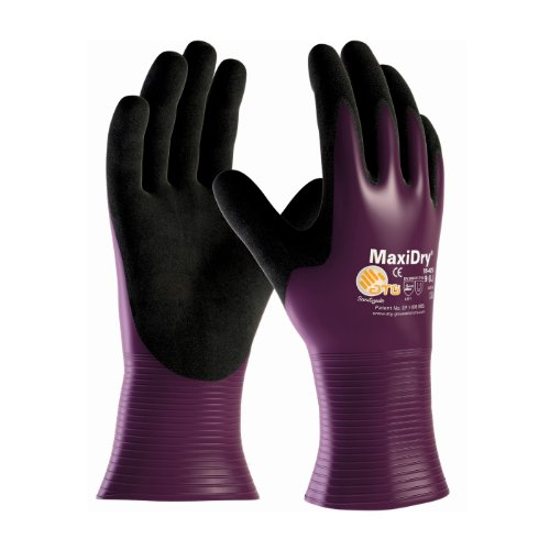 (MaxiDry 56-426/XXL Ultra Lightweight Nitrile Glove, Fully Dipped with Seamless Knit Nylon/Lycra Liner and Non-Slip Grip on Palm and Fingers)