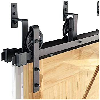 Amazon Com Winsoon 5ft Bypass Barn Door Hardware Sliding