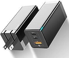 Baseus USB-C 急速充電器 pd 充電器 65W 急速充電器 USB充電器 GaN 窒化ガリウム 3ポート 折畳式 PD急速充電 超小型体積 BPS知能的に電流を分ける PSE認証済 Huawei P40/P30 Pro/Mate...