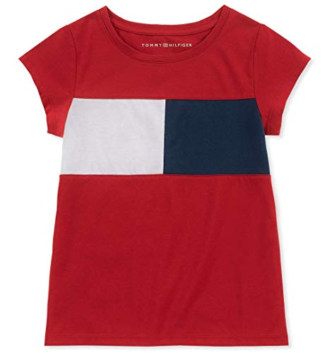 Tommy Hilfiger Big Girl's Big Girls' Tee Shirt, regal red, L12/14 (Tommy Hilfiger Sweater Red Women)