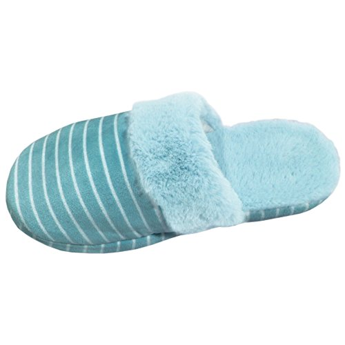 Best Prime Deal Turquoise Furry Slipper Last Minute Gift Idea Under 20 Dollars Wife Beautiful Travel Comfortable Fluffy Plush Cozy Unique Valentines Day Sale Flip Flop Mule For Teen Girl - Minute Best Gifts Last
