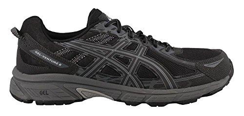 ASICS Men's Gel-Venture 6 Running-Shoes, Black/Phantom/Mid Grey, 12 Medium US