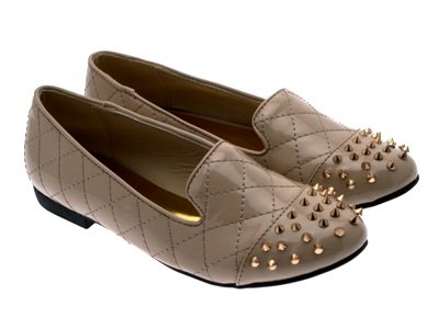 LOAFERS Patent LD 8 MUKES BALLET SPIKE FLATS LADIES PUMPS NEW SHOES GIRLS STUDDED SLIPPERS WOMENS Nude Outlet STUDS 3 4cq0nwT4r