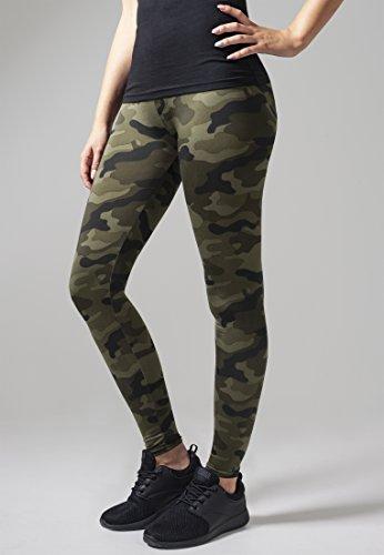 Urban Classics Ladies Leggings TB1331 Ladies Camo Leggings Color: wood camouflage in Size: Medium