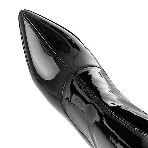 Spillo Black Donna Stivali Da EQEQ Con Il Sopra A Ginocchio Tacco Stiletto Stivali nwYYBq7Sv