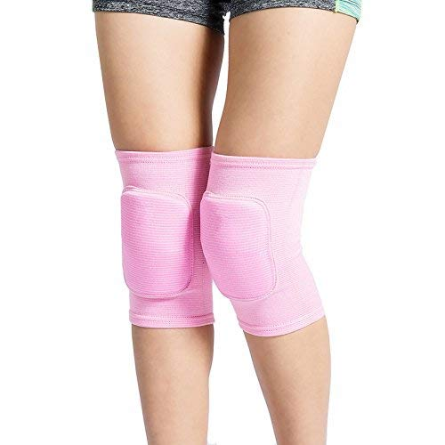 Lion Palace Best Soft Knee Pads for Dancers-Knee Pads Knee Guards for Ath letic Use Volleyball Knee Pads Dance Knee Pads Yoga Knee Pads Football Pad Tennis Skating Workout Climbing (Pink, XXS)