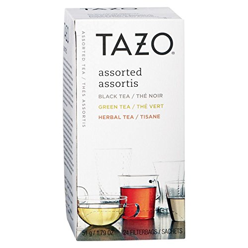 Tazo 153966 Assorted Black & Green Teas and Herbal Infusions (24 Teabags)