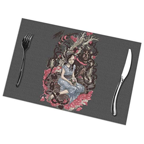 prrey Placemats Set of 6 for Dining Table Mirrors_24 Heat Resistant Kitchen Table Mats (Table Mirror Mats)