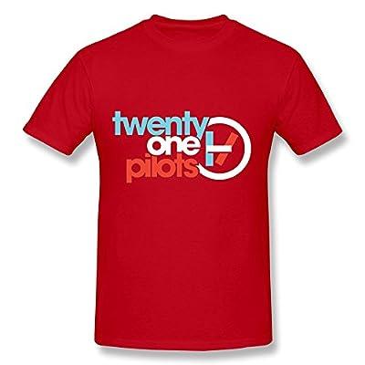 SHUNAN Men's Twenty One Pilots T-shirt Size XS Red