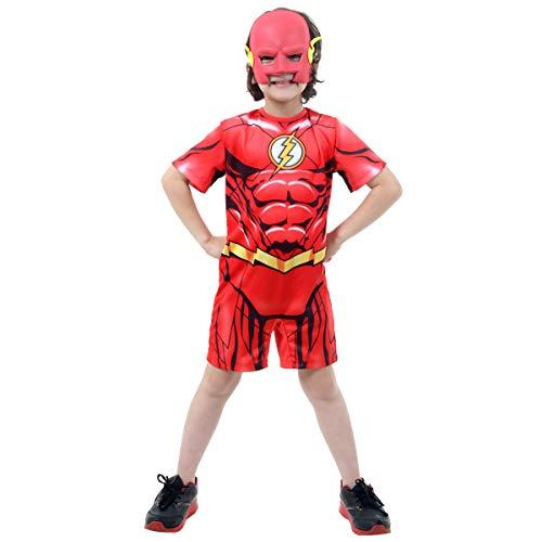 The Flash DC Curto Infantil Sulamericana Fantasias Vermelho P 3/4 Anos