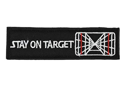 Jadedragon Stay ON Target Embroidered Morale Hook Fastener Patch (Target)
