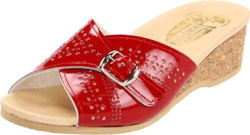 Worishofer Womens 251 Sandalo Rosso Patent