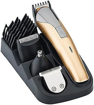 All In One eléctrica Cortapelos Cuidado Kit, 8 en 1 recargables pelo afeitadora nariz de oído Barba Bigote recortador Clippers Traje Cortapelos para peluquería, EU: Amazon.es: Salud y cuidado personal