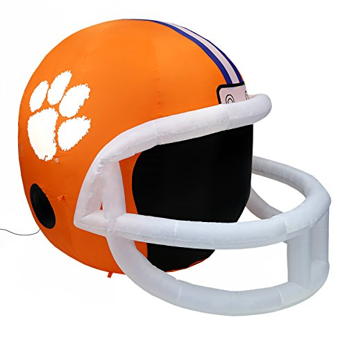 NCAA Clemson Tigers Team Inflatable Lawn Helmet, Orange, One Size