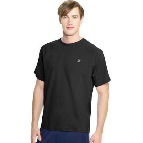 Champion Men's Powertrain Performance T-Shirt, Black, Small