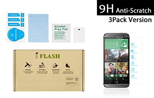 iFlash® 3 Pack of Premium Tempered Glass Screen Protector F