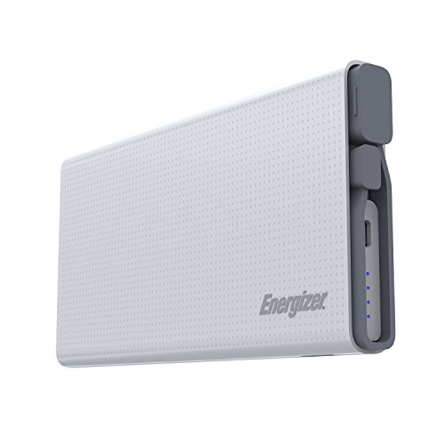 Energizer UE10004QC 10000mAh 2.1A Quick Charge 3.0 ABS Lithium Polymer Power Bank for Smartphones and Tablets, - Cell Phone Energizer Charger Portable