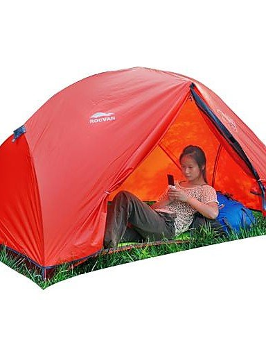HIIY ROCVAN 4 Season SUNNY 1 One Person Double Layer Tear Resistant Aluminum Pole Camping Tent