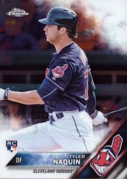 Amazoncom 2016 Topps Chrome Baseball 14 Tyler Naquin Rookie Card