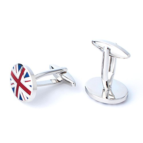 Anfly Official England British Flag Cufflinks lag Wedding Dress Shirts Cufflinks for Men by Anfly (Image #4)
