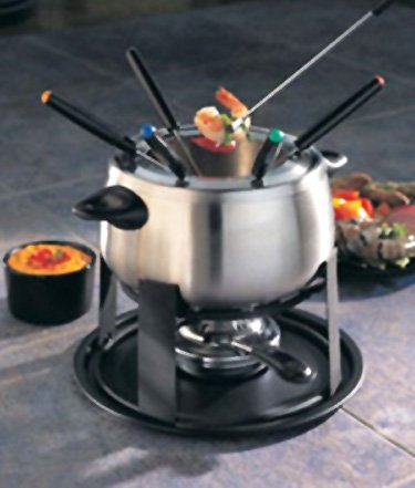 (Stainless Steel Meat Fondue Set By Home Presence-11pcs.)