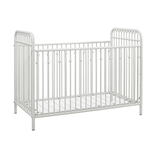 Little Seeds Monarch Hill Ivy Metal Crib, White - Antique White Crib
