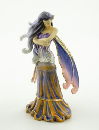 PTC 4 Inch Solitude Fancy Fairy Standing Jewelry/Trinket Box Figurine ()
