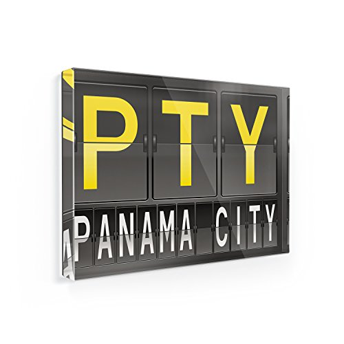 Fridge Magnet PTY Airport Code for Panama City - NEONBLOND