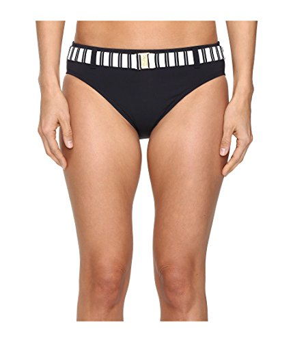 - Bleu Rod Beattie Women's Cruise Control Striped Belted Hipster Bikini Bottom, Black, 10