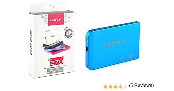Carcasa externa de Disco HDD CLiPtec® USB SATA de 6,35 cm, con USB ...