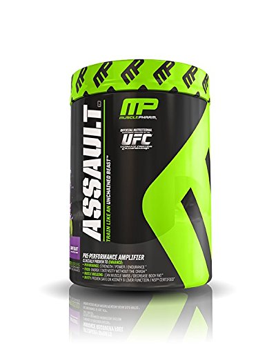 Muscle Pharm Assault Pre-Workout System, Grape Blast, 0.96 Pound