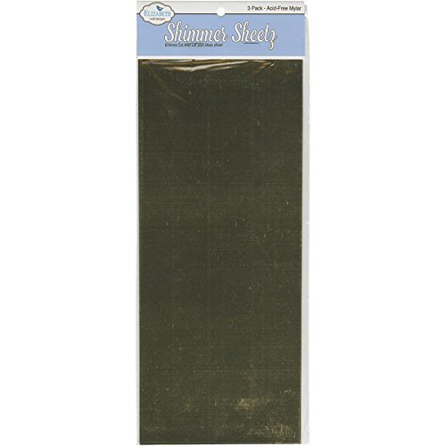 ADVANTUS CORPORATION Metallic Mylar Shimmer Sheetz 5X12 3/Sheets-Gold Notions - In Network 124954