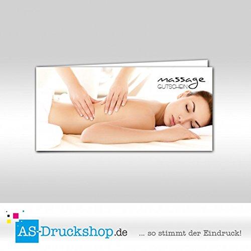 Gutschein Massage - Frau   100 Stück   DIN Lang B0795331VK | Leicht zu reinigende Oberfläche