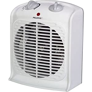 Pelonis Fan-forced Portable Space Heater with Thermostat-new, Three Heat Settings (Low, Medium and High),safety Auto Shut-off Set of 1 (White)