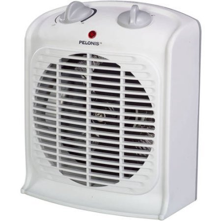 Pelonis Fan-Forced Portable Space Heater with Thermostat-new / Three Heat Settings (Low, Medium and High) (White) Ceramic Heaters