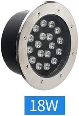 Boandey 18 W LED Redondo Exterior Escalera escalones lámparas Impermeable IP67 Aluminio Empotrado en el Suelo Bien Foco para jardín Camino Caminata Patio Piscina incrustada lámpara enterrada: Amazon.es: Hogar