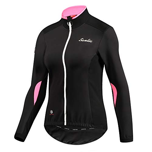 Santic Womens Cycling Jackets Winter Inner Fleece Windproof Long Sleeve Thermal  Bicycle Jacket Breathable Coat 348a009ff