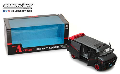 Greenlight 1/18 Hollywood The A-Team 1983-87 TV Series 1983 GMC Vandura Diecast Model Car #13521, Multi from Greenlight