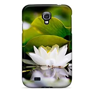 Premium White Lotus Heavy-duty Protection Case For Galaxy S4