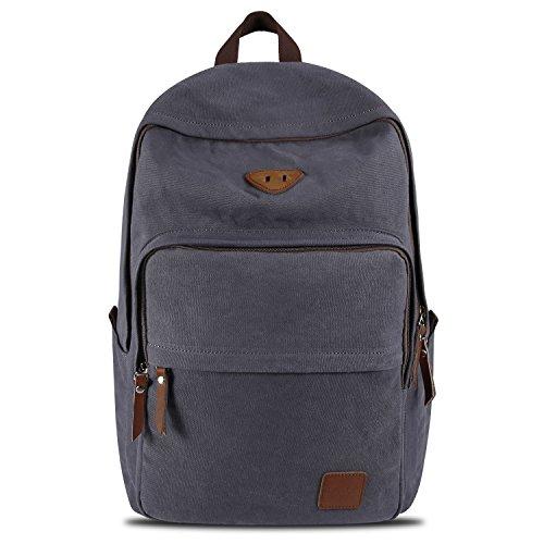 Travel Outdoor Computer Backpack Laptop Bag (Dark Grey) - 8