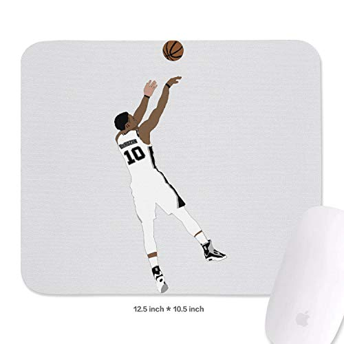 10.5X12.5 (inch) Special Pattern Mouse Pad Sport Theme Style Basketball Mouse Mat Gaming Comfortable Rubber Base Rectangle Suitable for Computers Laptop Office Home Mousepad 27 X32.1 cm