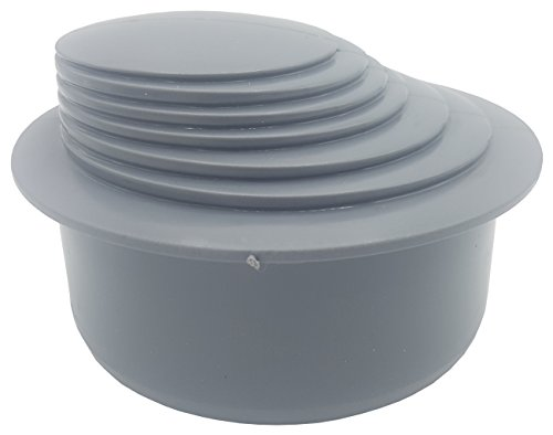 Grey Colour Gutter Down Pipe Downpipe Downspout Reducer 110mm to Any Size Reduction Guttering Fittings by Karmat