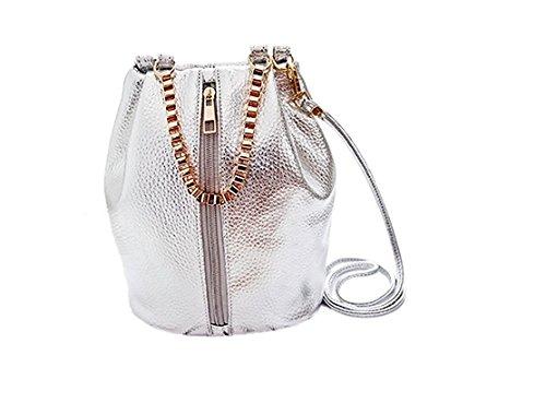 YEAH67886Fasion beauty vintage ragazze donne Sliver spalla mano borsetta secchiello borsa zaino