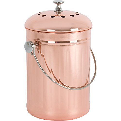 copper-plated-stainless-steel-kitchen-compost-bin-with-two-odor-absorbing-filters-1-gallon-premium-c