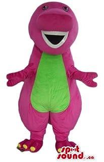 Amazon Com Kooplus Barney Dinosaur Mascot Costume Halloween