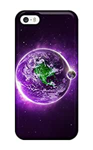 Tpu Case Cover For Iphone 5/5s Strong Protect Case - Purple Earth Background Design 3400752K90125236